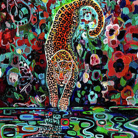 Leopards Reflection by Genevieve Esson