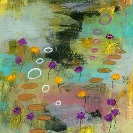 Let it Be 1 Abstract Landscape Flowers Painting by Itaya Lightbourne