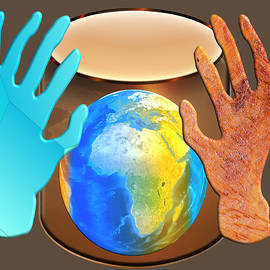 Let us Ring out Peace around the World with all our Hands. by Frantz Cialec