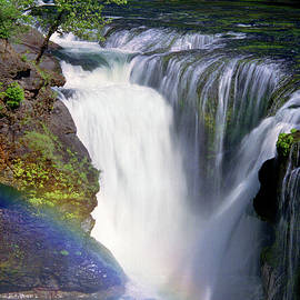 Lewis River Falls And Rainbow by Douglas Taylor