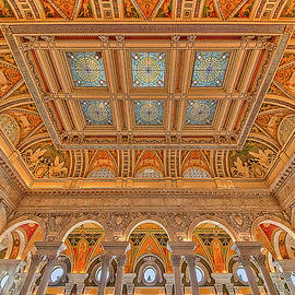 Library Of Congress Ceiling  by Susan Candelario