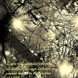 Light Dispels Darkness with Text by Hazel Holland