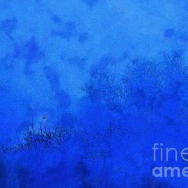 Light in the blue fog, watercolour effect by Paul Boizot