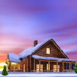 Lighted  HOUSE by Belinda Threeths
