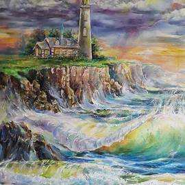 Lighthouse Before the Storm by Alla Savinkov