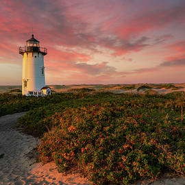Lighthouse Sunset by Bill Wakeley