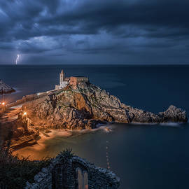 Lightning on the Horizon, Portovenere by Giovanni Laudicina