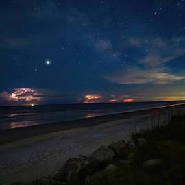Midnight Lightning Storm by Holton Media