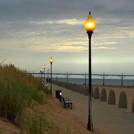 Lights on Along the Boardwalk by Carmen Macuga