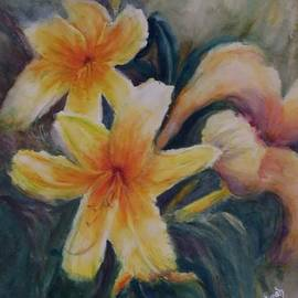 Lilies in the Wind by Leah Saban