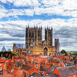 Lincoln Cathedral And The Rooftops  by Paul Thompson