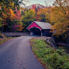 Lincoln NH Flume Gorge covered bridge by Jeff Folger