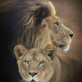 Lion and Lioness by Lori Deiter