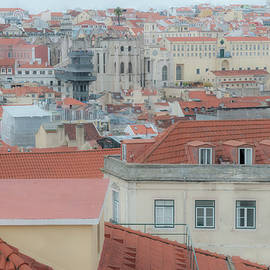 LISBON roofs2 by Clive Beake