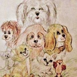 Little Animals Drawing by Christy Saunders Church
