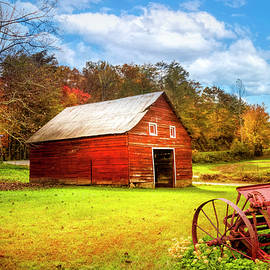 Little Barn at the Farm in the Countryside by Debra and Dave Vanderlaan
