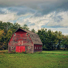 Little Barn with Red Doors by Dorothy Pinder