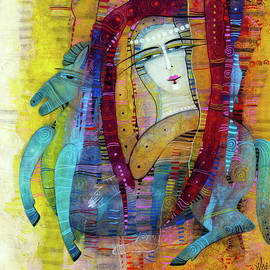 Little blue horse by Albena Vatcheva