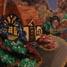 Little Cottage Tribute to Thomas Kinkade by Christy Saunders Church