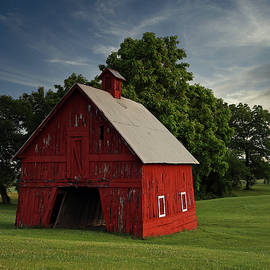 Little Red Barn Early Morning, Indiana by Steve Gass