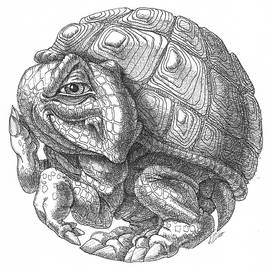 Little round turtle by Victor Molev