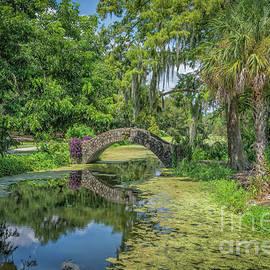 Little Stone Bridge over Lagoon, NOLA by Kathleen K Parker
