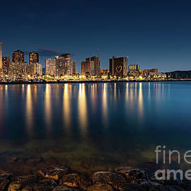 Live for the Blue Hour ... Waikiki Hawaii by Phillip Espinasse