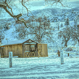 Livery In The Snow Tehachapi California by Barbara Snyder