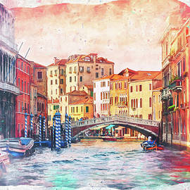Living on Water Scenes of Venice Italy Watercolor