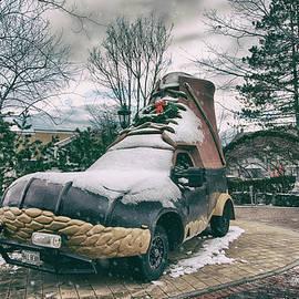 LL Bean Bootmobile - Freeport, Maine by Joann Vitali