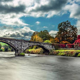 Llanrwst Bridge and Ivy Cottage Wales by Adrian Evans