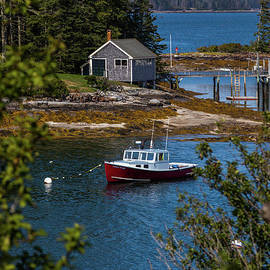 Lobster Boat in Port Clyde Cove by Diane Diederich