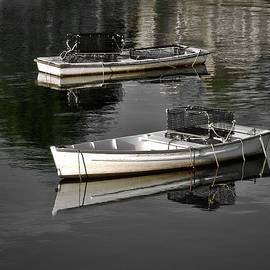 Lobster dinghies 2, Perkins Cove, Maine by Steven Ralser