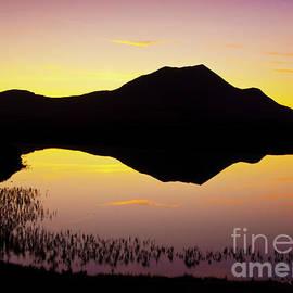 Lochan an Ais sunset, Sutherland, Scotland by Neale And Judith Clark