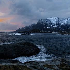 Lofoten Coastal Sunset by Norma Brandsberg