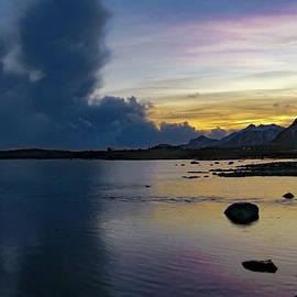 Lofoten Mountain Sunset by Norma Brandsberg