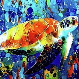 Loggerhead Sea Turtle - Creatures of the Deep Series by Susan Maxwell Schmidt