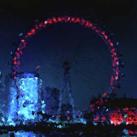 London Eye at Night by Alex Mir