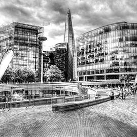 London Shard And Glass Office Buildings by Paul Thompson