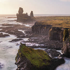 Londrangar Basalt Cliffs in Iceland by Alexios Ntounas