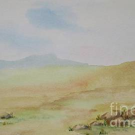 Lonely Dartmoor - watercolour painting by Lesley Evered