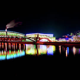 Long-exposure photo of Moscow river at night #2 by ParaKrytous P
