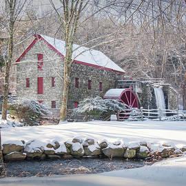 Longfellow's Wayside Inn Grist Mill in Winter by Betty Denise
