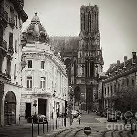 Looking At Notre Dame, Reims France by Luther Fine Art