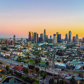 Looking towards Downtown from Echo Park by Josh Fuhrman