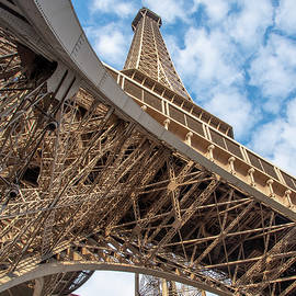 Looking Up from the Base of the Eiffel Tower 2 by John Twynam