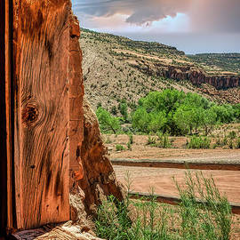 Lookout Window At Captain Smith's Cabin Colorado by Janice Pariza