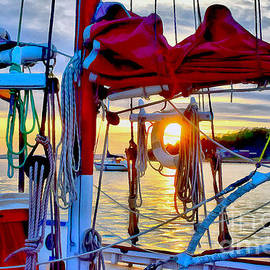 Lopez Sunset Through the Lifebuoy by Sea Change Vibes