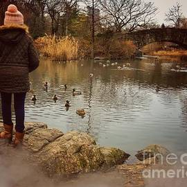 Lost in Thought - Central Park in Winter by Miriam Danar