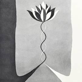 Lotus Flower Painting by Ezartesa Art